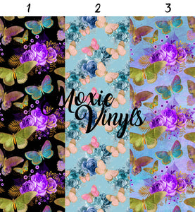 Butterfly Flowers 123 Adhesive Vinyl