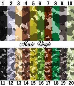Camouflage Adhesive Vinyl - Natural Colors