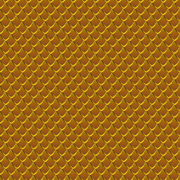 Dragon Scales Printed Adhesive Vinyl - Gold