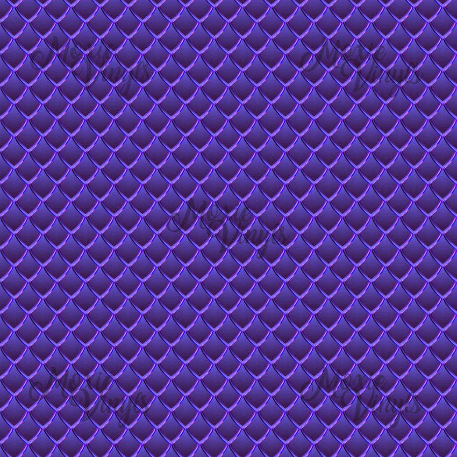 Dragon Scales Printed Adhesive Vinyl - Purple