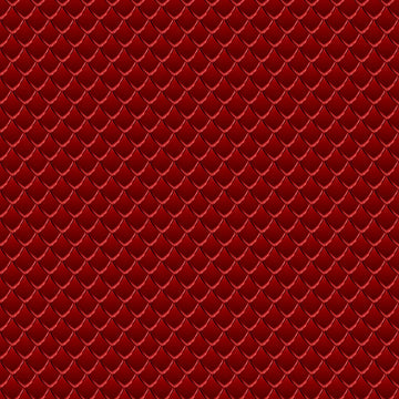 Dragon Scales Printed Adhesive Vinyl - Red