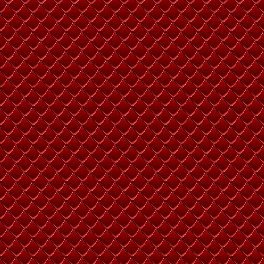 Dragon Scales Printed Vinyl - Red