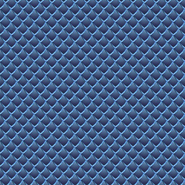 Dragon Scales Printed Adhesive Vinyl - Slate Blue