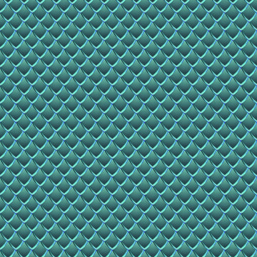 Dragon Scales Printed Adhesive Vinyl - Teal