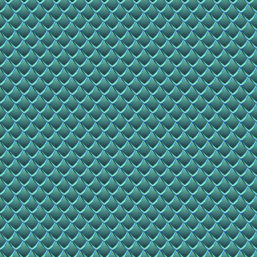 Dragon Scales Printed Vinyl - Teal