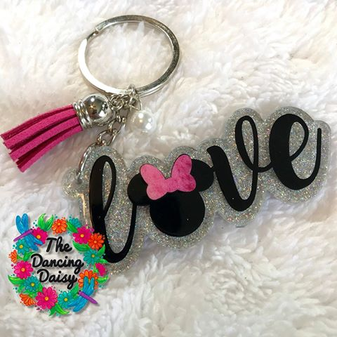 Love Girl Mouse Ears Acrylic Blank