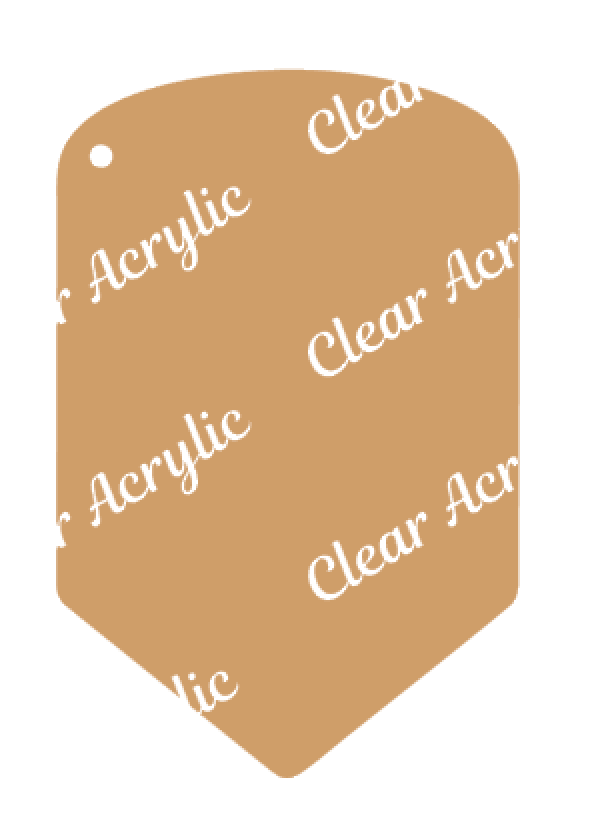 Pencil Clear Acrylic Blank for Keychain Ornaments