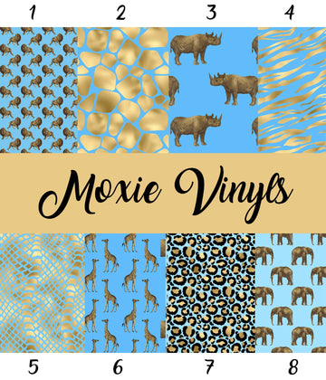 Safari Animals Pattern Printed Vinyl