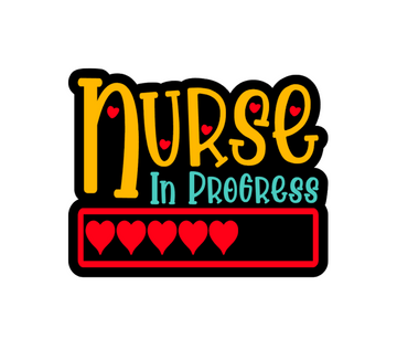 Nurse in Progress Badge Reel Blank