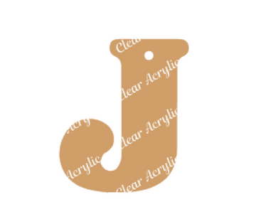 Alphabet Letter J Clear Acrylic Blank for Keychain Ornaments