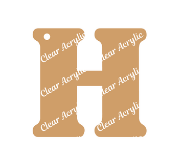 Alphabet Letter H Clear Acrylic Blank for Keychain Ornaments