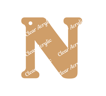Alphabet Letter N Clear Acrylic Blank for Keychain Ornaments