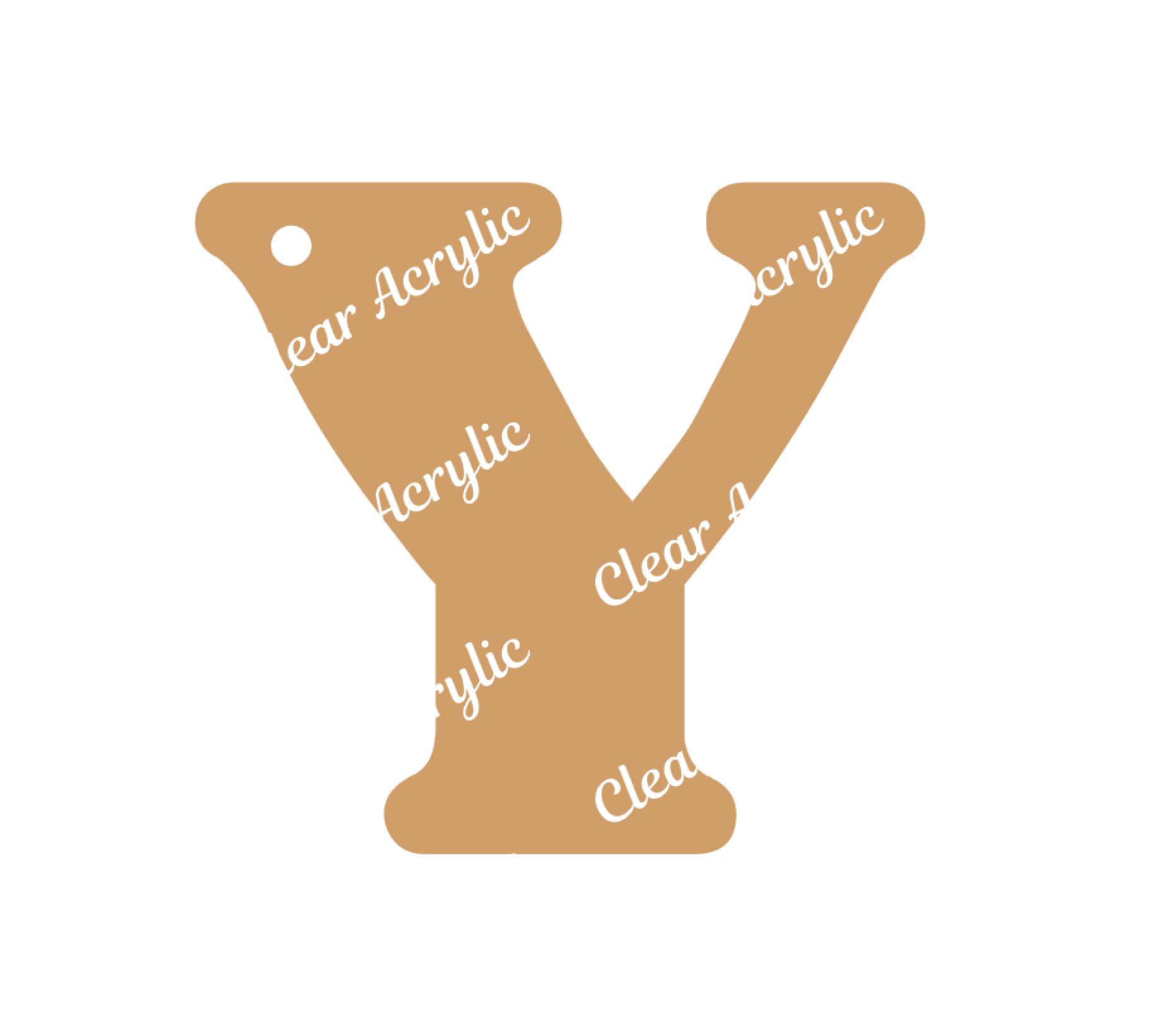 Alphabet Letter Y Clear Acrylic Blank for Keychain Ornaments