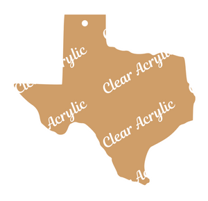 Texas State Shape Acrylic blanks for ornament vinyl glitter keychain crafts