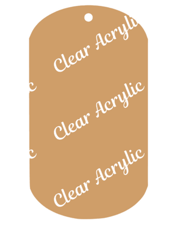 Military Dog Tag Shape Acrylic clear plastic Blanks