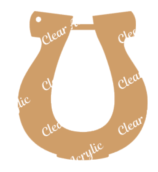 Lucky Horseshoe shape clear plastic acrylic blank for keychains