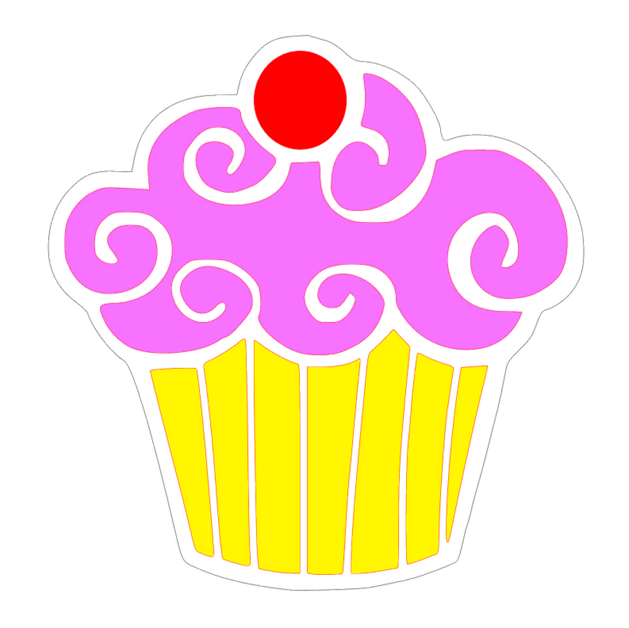 SVG file for Cupcake Plastic Clear  Acrylic Blank for Keychain Ornaments