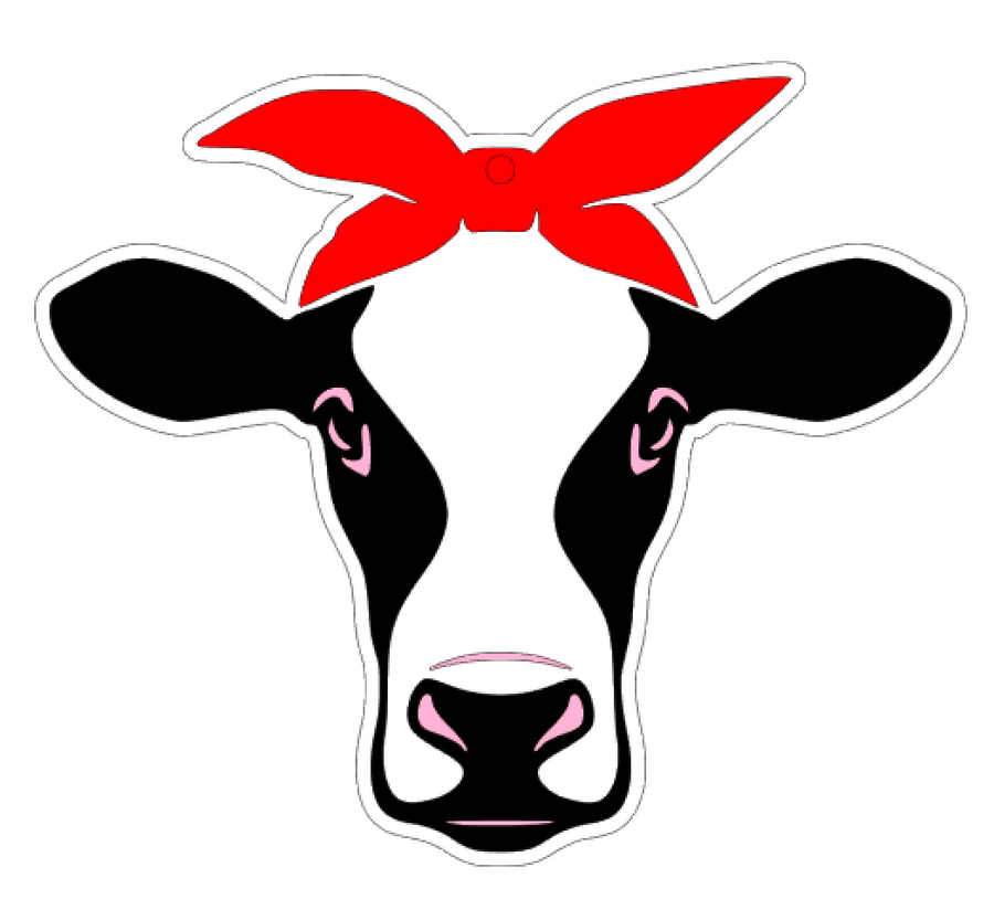 SVG design for cow bandana blank