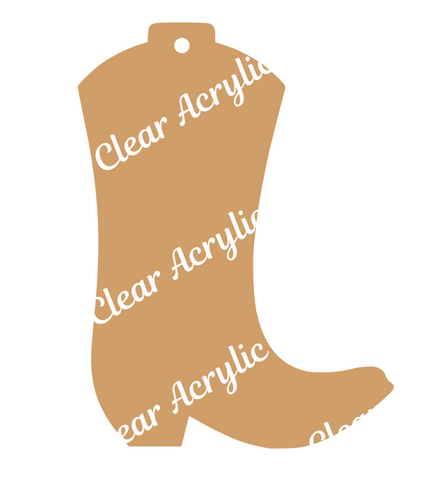 Cowboy Boot  Acrylic Blank for Keychain Ornaments