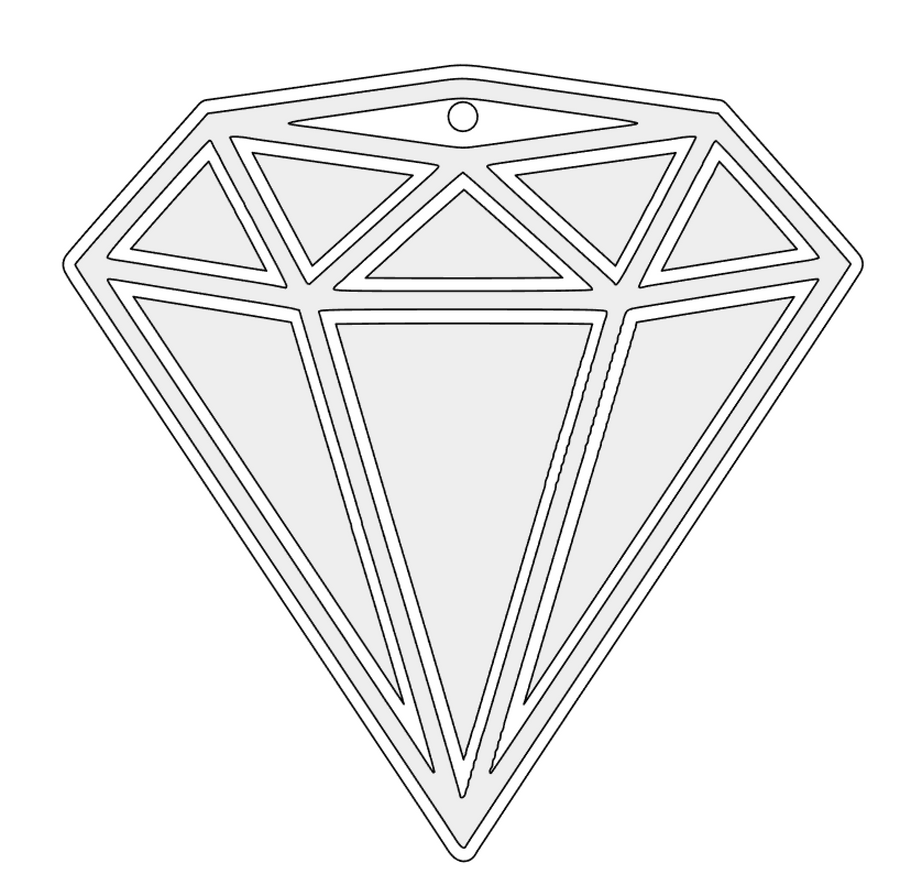Diamond facets svg cut files for acrylic blank
