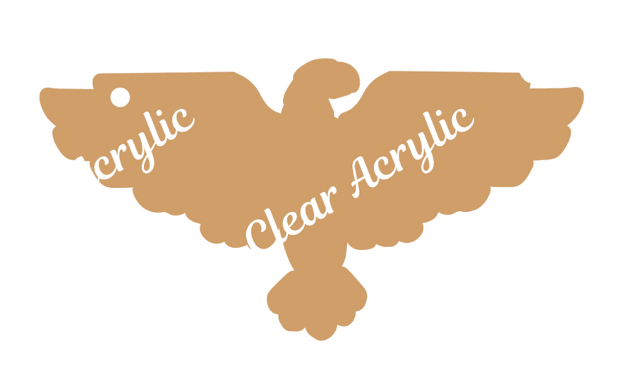 Eagle Wings Spread Clear Acrylic Blank for Keychain Ornaments