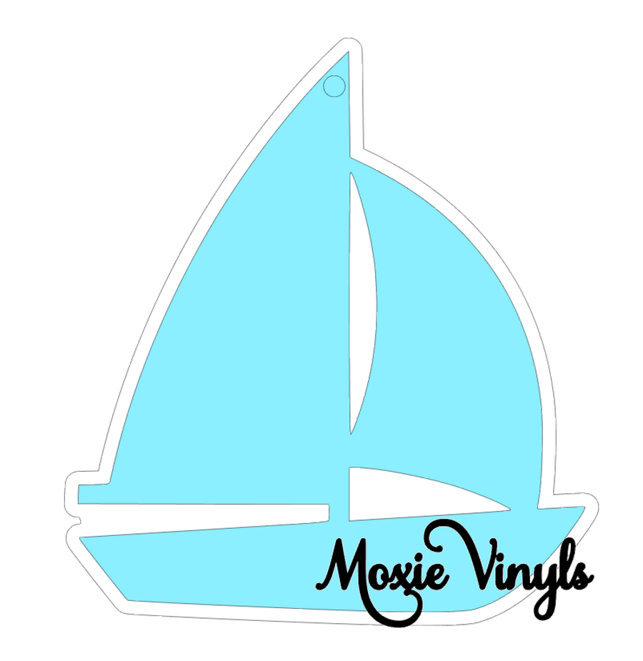 outline image for sailboat  acrylic blank