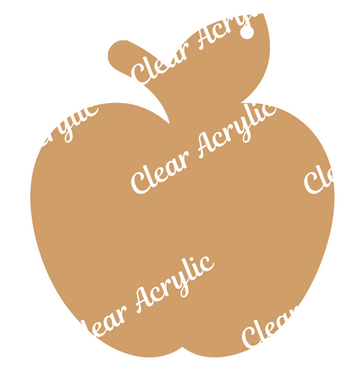 Apple shape clear acrylic plastic blank for keychain vinyl crafts