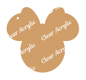 Mouse Ears Big Bow Acrylic Blank for keychains