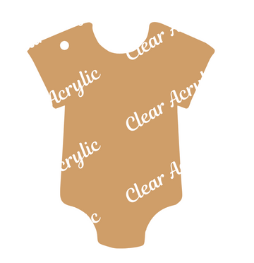 Shape of baby clothes plastic blank