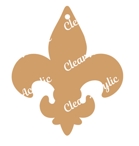 Fleur De Lis Scouts shape acrylic blank for keychains, bag tags, vinyl crafts
