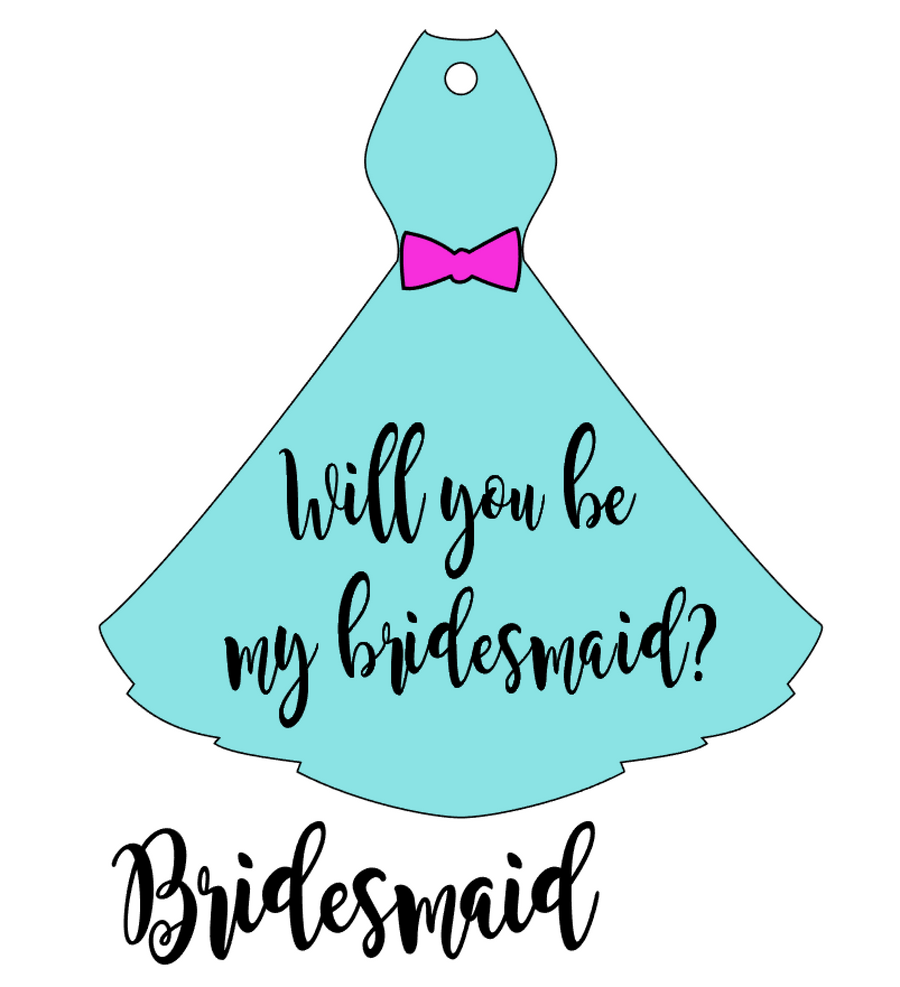 Bridesmaid Dress Acrylic Blank