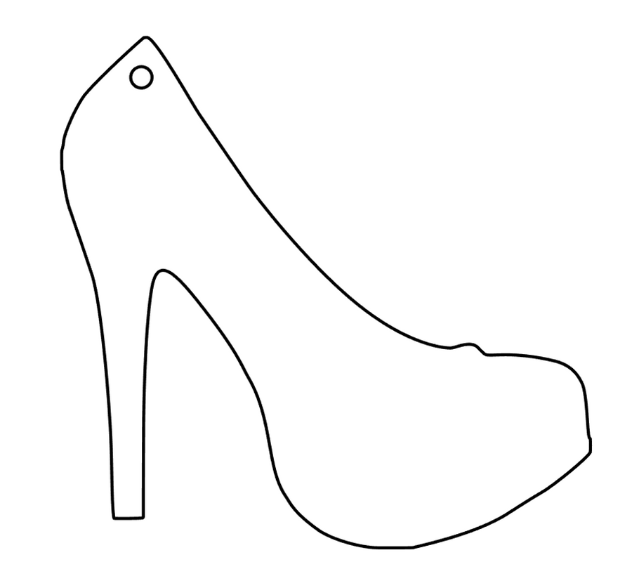 High Heel Shoe Acrylic Blank