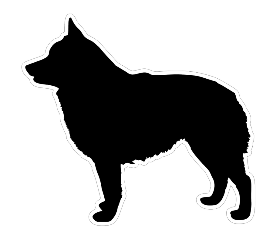 Schipperke Dog Profile Acrylic Blank