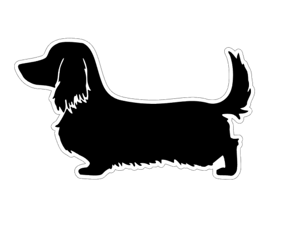 Long Haired Dachshund Profile Acrylic Blank