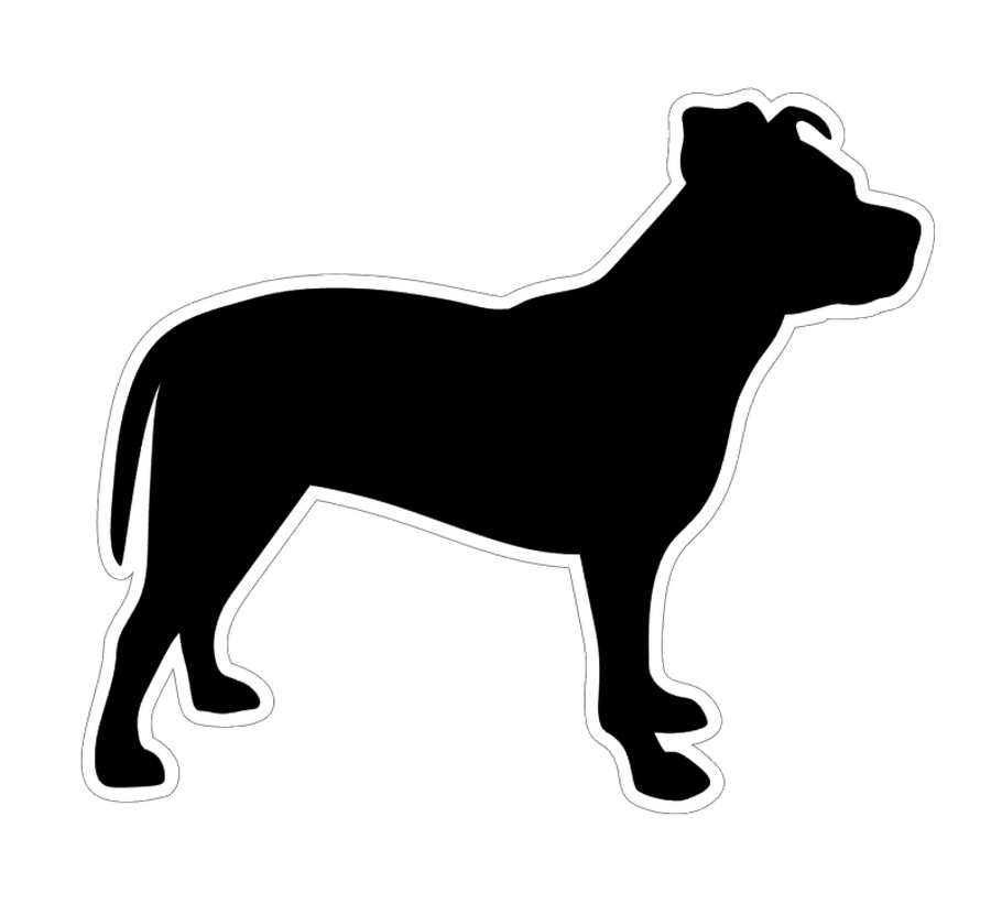 Pit Bull Terrier Uncropped Profile Acrylic Blank