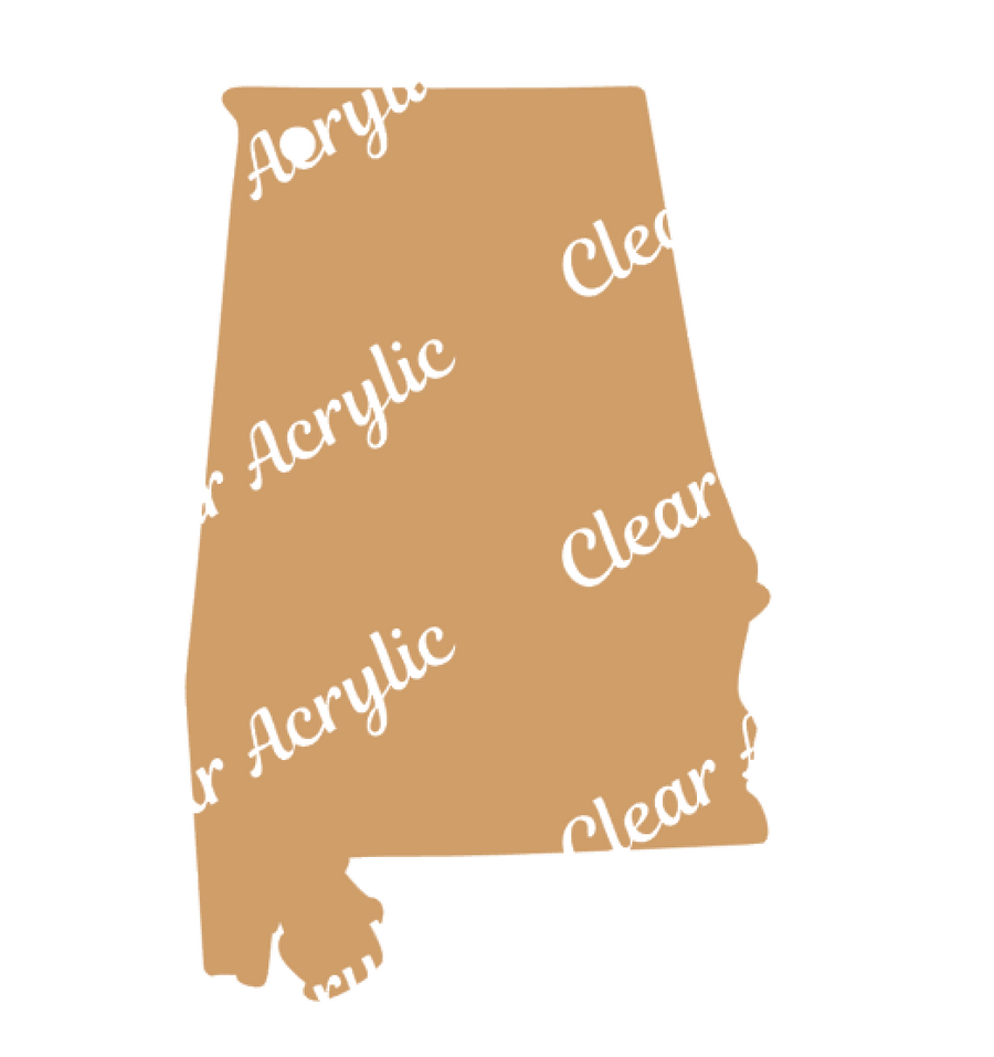 US States Alabama Acrylic Blanks for Key Chains