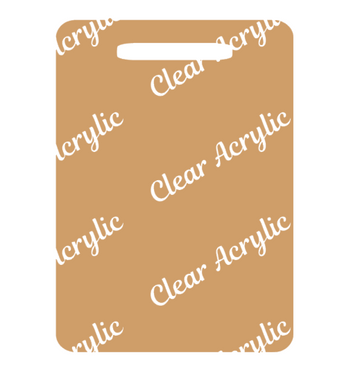Luggage Tag Acrylic Blank