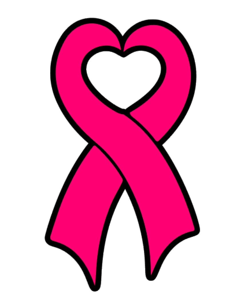 Heart Awareness Ribbon Acrylic Blank