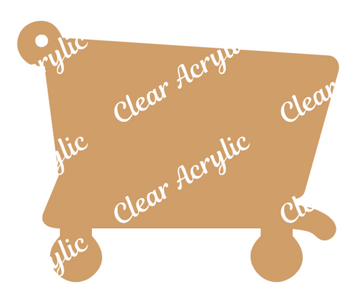 Grocery Shopping Cart Acrylic Blank