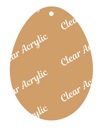 Egg Acrylic Blank for Crafting
