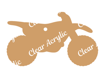 Dirt Bike Motorcycle Acrylic Blanks for Key Chains