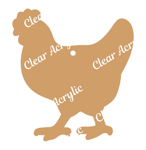 Chicken Acrylic Blanks for Key Chain Crafts
