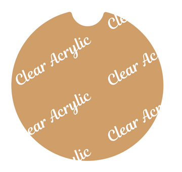 Car Coaster Acrylic Blank - CHOOSE SIZE