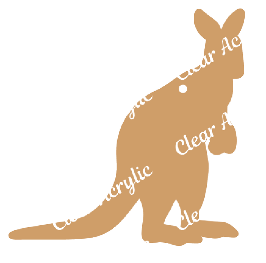 Kangaroo Animal Shape Acrylic Blanks
