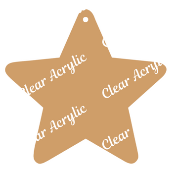Star Acrylic Blank for Crafts