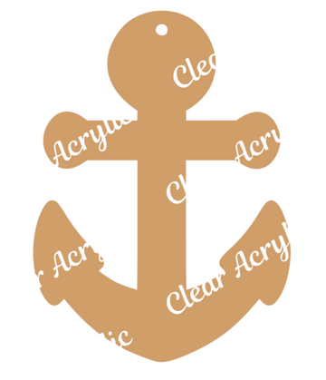 Anchor Acrylic Blank for Key Chain Crafting