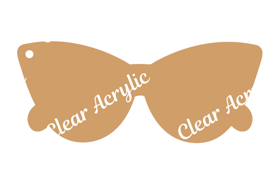Retro Cat Sunglasses Acrylic Blanks for DIY Crafting