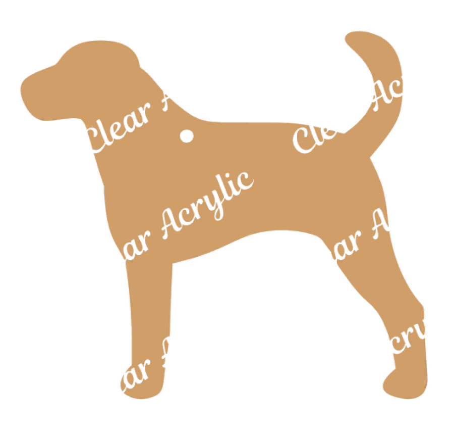 Foxhound Dog Acrylic Blanks for Crafts