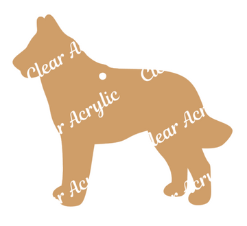 Belgian Malinois Dog Acrylic Blanks for Key Chain Crafts
