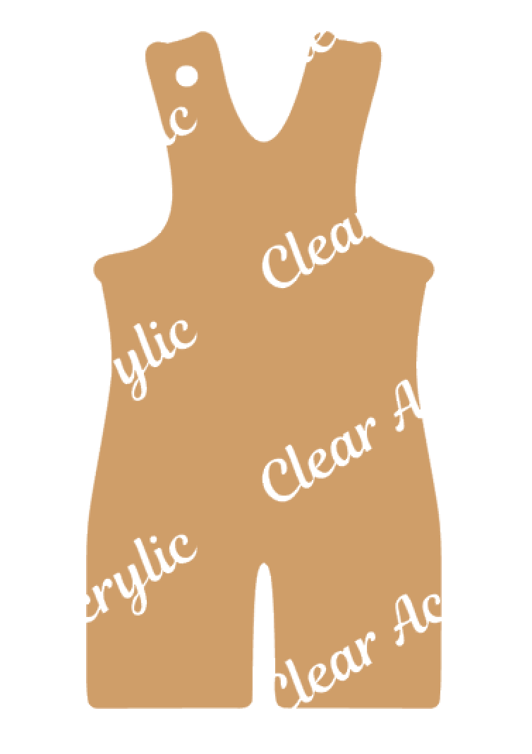 Wrestling Singlet Acrylic Blanks for Crafts